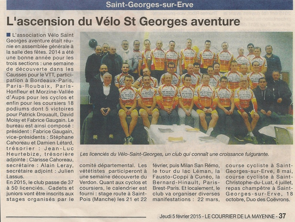 Courrier de la Mayenne du 05/02/2015