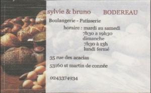 Boulangerie Patissserie BODEREAU, 35 Rue des Acacias, 53 160 Saint Martin de Connée, 02 43 37 49 34