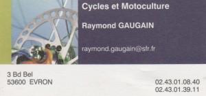 Cycles et Motoculture, Raymond Gaugazin, 3 Boulevard Bel, 02 43 01 08 40
