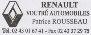 RENAULT VOUTRÉ AUTOMOBILES, Patrice ROUSSEAU, 02 43 01 67 41